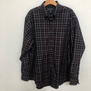 Brooks brother plaids long sleeves shirt Sz large